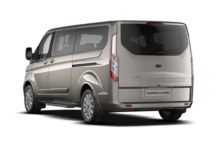 Ford Tourneo Custom 320 L2 M1 2.0 EcoBlue FWD 185PS Sport Minibus Manual [Start Stop] [8Seat] back view