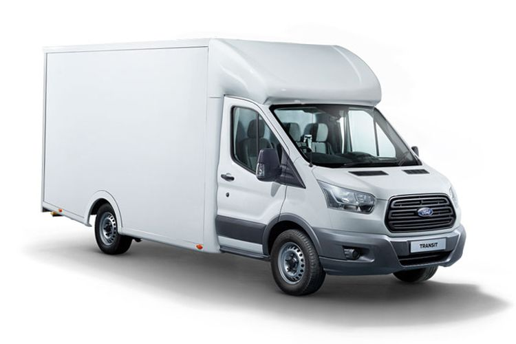 Ford Transit 350 L5 2.0 EcoBlue FWD 130PS Leader Luton Auto [Start Stop] [Skeletal Low Floor] front view