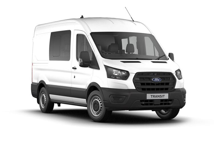 Ford Transit 350 L3 2.0 EcoBlue MHEV FWD 130PS Leader Crew Van High Roof Manual [Start Stop] [DCiV] front view