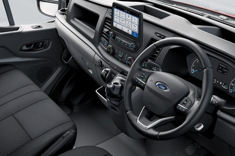 Ford Transit 350 L3 2.0 EcoBlue MHEV FWD 130PS Leader Crew Van High Roof Manual [Start Stop] [DCiV] inside view